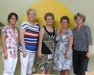 Conseil d'administration 2014-2015 Vicky Tremblay, Guylaine Guay, Huguette Dufour, Véronique simard et Sylvie Guay