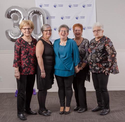 Mesdames Huguette, Diane, Véronique, Lucie et Yvonnette