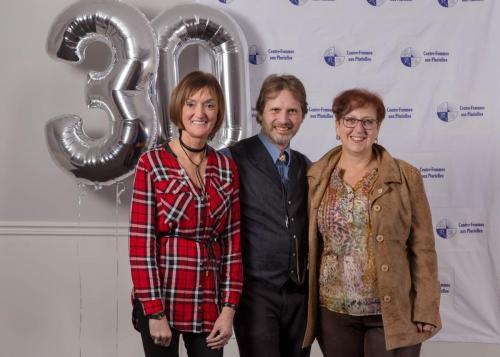 Mme Guylaine Savard, M. Denis Allars et Mme Sylvie Boucher du Bureau de la Députée Fédérale Sylvie Boucher